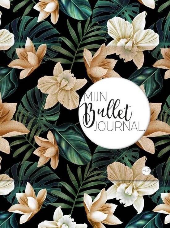 MUS Mijn Bullet Journal - Black Flower