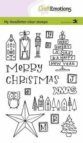 Craftemotions clear stamps A6 - Xmas set 1 (Eng) - Carla Kamphuis