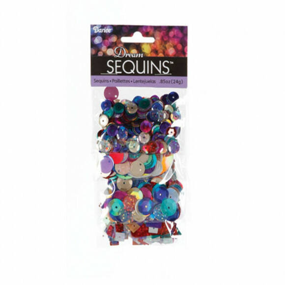 Darice - Dream sequins 24g Bright Multi