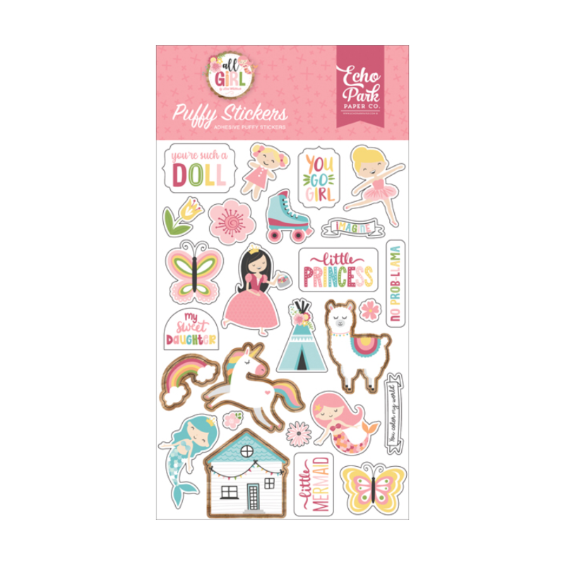 Echo Park - All girl - Puffy stickers