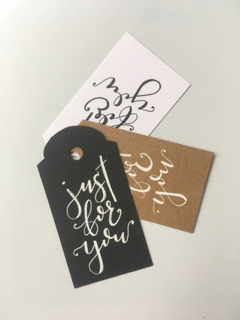 "Tag ""Just for You"" - set van 3 klein"