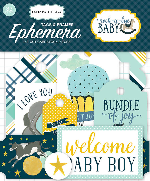 Carta Bella - Rock-a-Bye Baby -  Frames & Tags