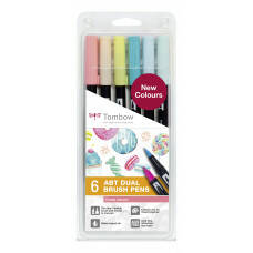 Tombow ABT Dual Brush Pen - set van 6 nieuwe kleuren - Candy colours