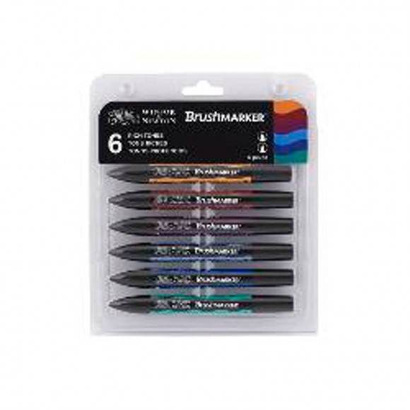 PRE ORDER: Winsor & Newton Brush marker set 6x Rich Tones