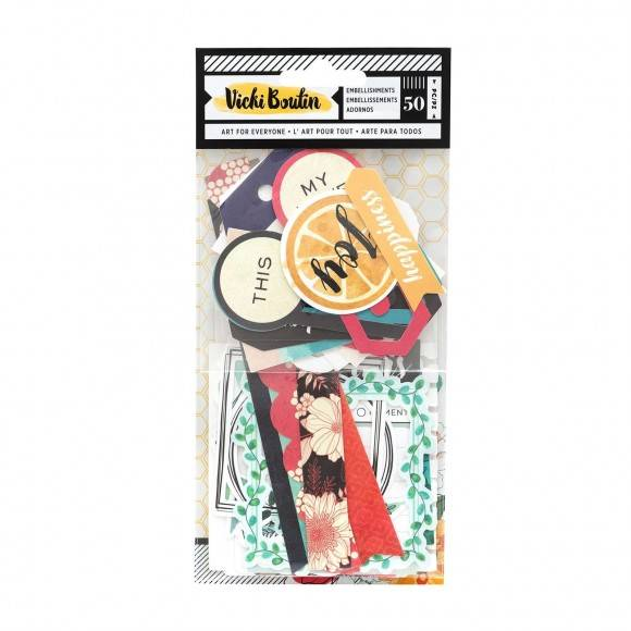 Wildflower and Honey by Vicky Boutin - American Crafts - Embellishments 2 - frames and tags