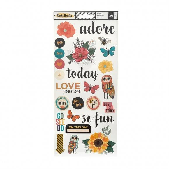 Wildflower and Honey by Vicky Boutin - American Crafts - 49 stickers