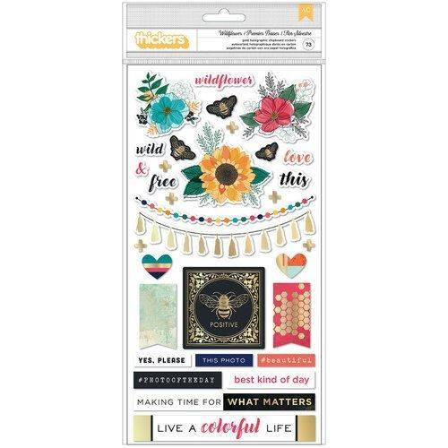 Wildflower and honey - Vicky Boutin - AC - Gold holographic stickers