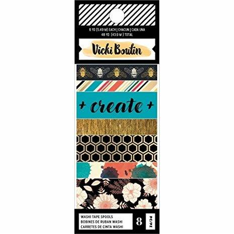 Wildflower and Honey by Vicky Boutin - American Crafts - Washi tape spools 8 stuks
