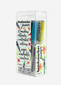 Karin Brushmarker Junior - 11 basis colours + blender - set van 12
