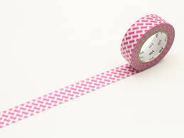 Washi Tape: MT Kamoi Paper - Net check pink