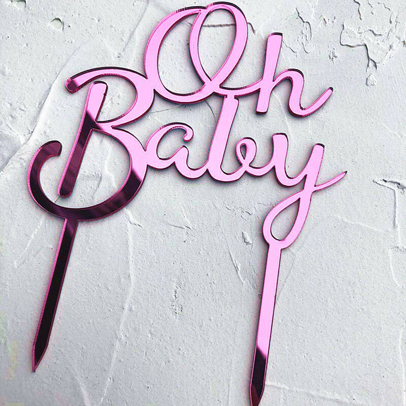 """""""Oh Baby"""" Topper Rose"""