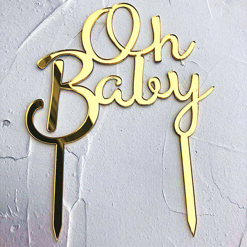 """""""Oh Baby"""" Topper Goud"""