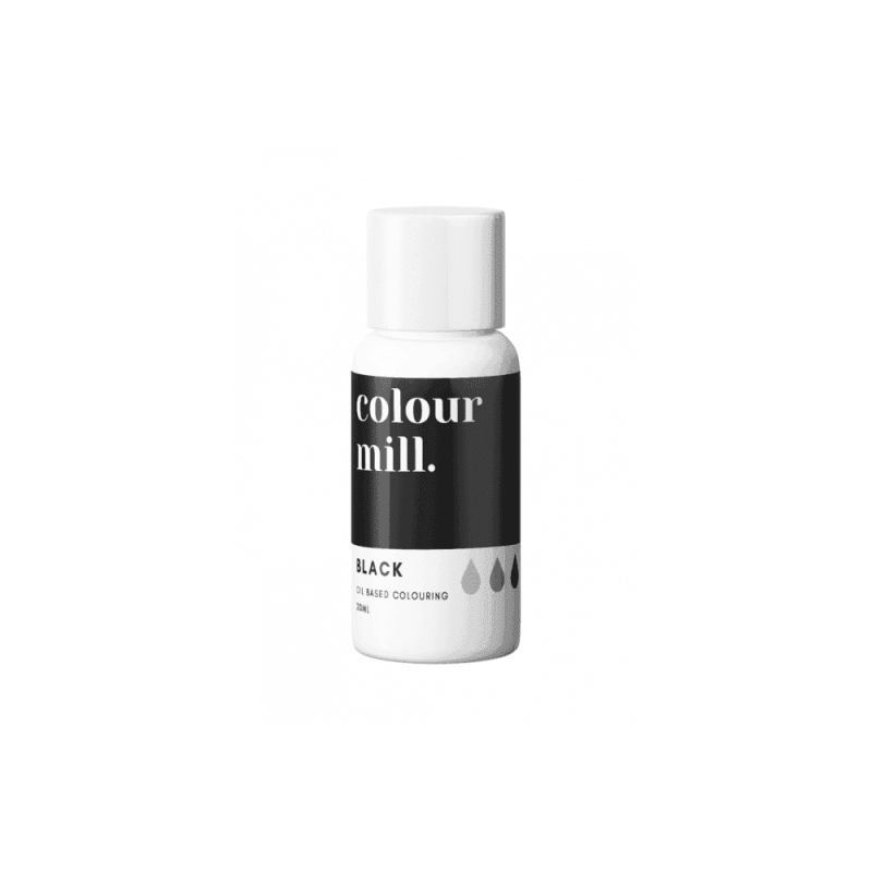 COLOUR MILL Black Oil Based Food Colouring 20ml