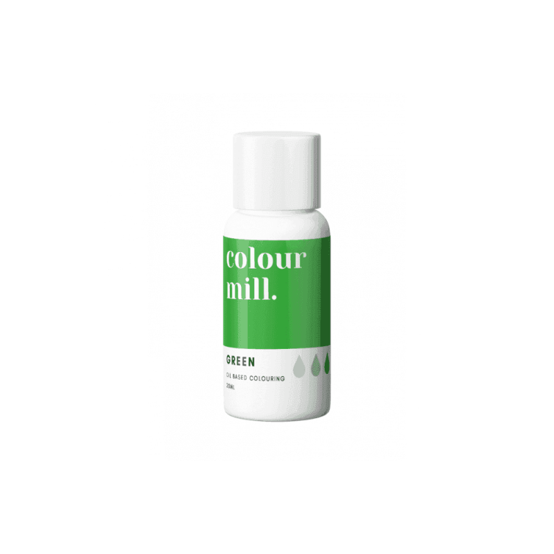 COLOUR MILL Green Oil Based Food Colouring 20ml