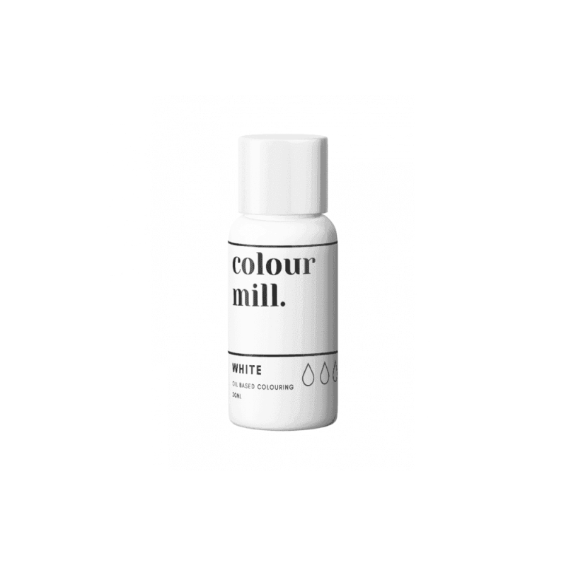COLOUR MILL White Oil Based Food Colouring 20ml