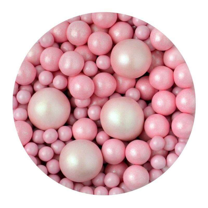 SPRINKLETTI Baby Pink Bubbles Edible Sprinkles 100g