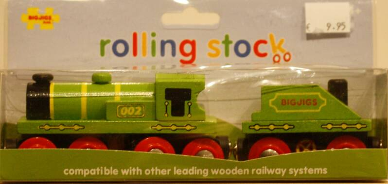 BigJigs  Big green engine + Coal tender BJT 419