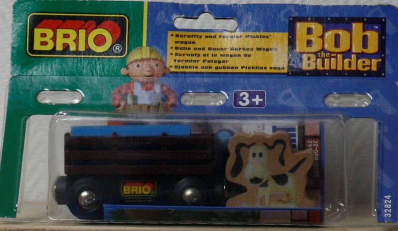 Brio bob de bouwer Scruffy en boer pickles wagon
