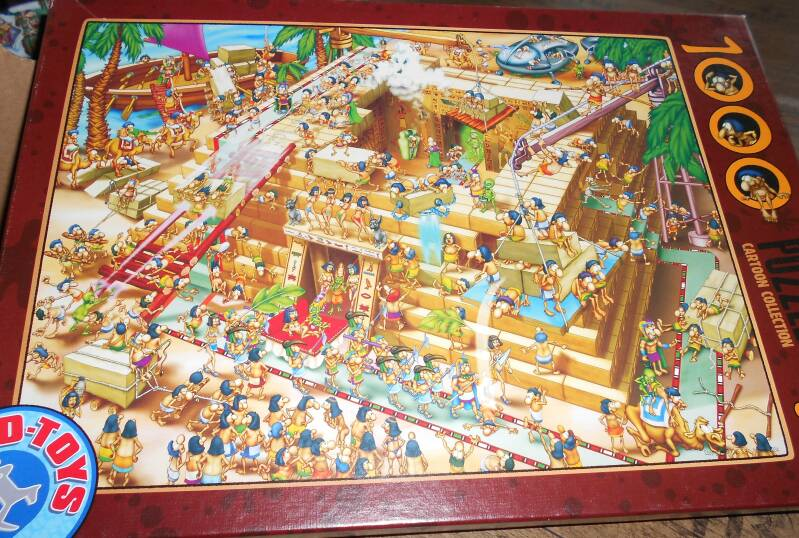 D-Toys Cartoon Collection, Building the Pyramids, 1000 st