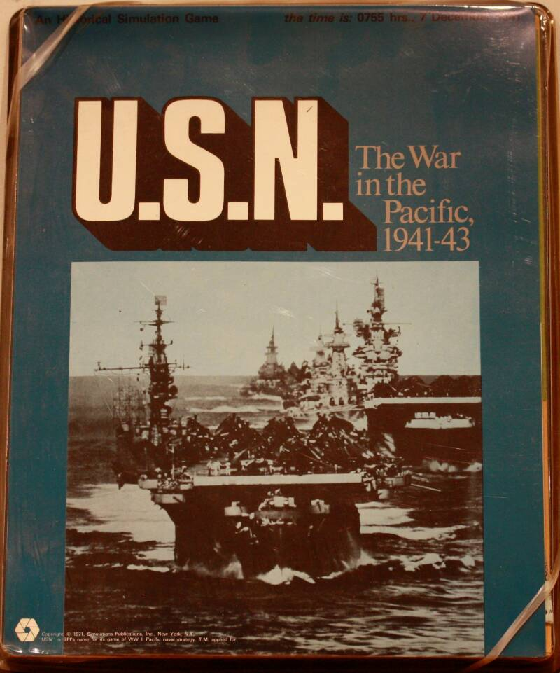 Historical simulation game  U.S.N. the war in the pacific 1941-43