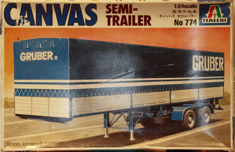 Italeri 1/24 Canvas semi trailer