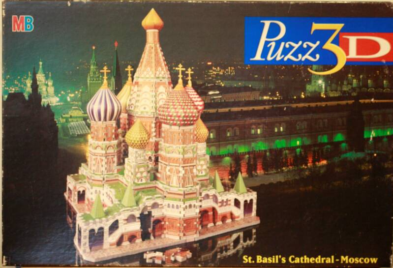 MB 3D puzzel St. Basil's cathedral-Moscow 708 st.