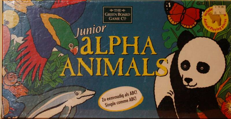 The green board game   Alpha animals junior