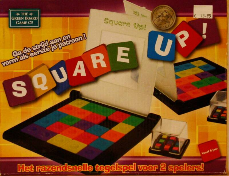 The green board game   Square up!