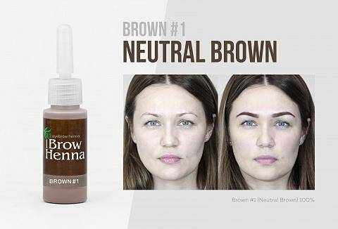 No 1 Neutral Brown, warme tint