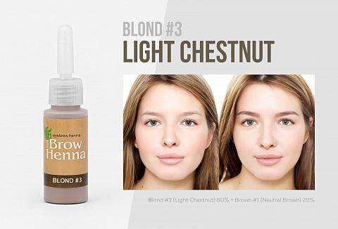 No 3 Light Chestnut, warme tint