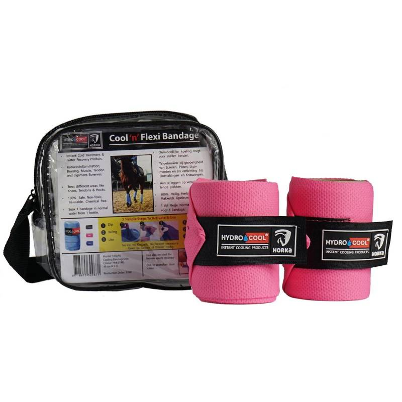 Cooling bandages kit - roze