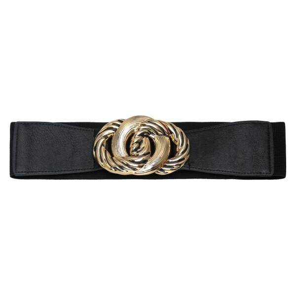 Belt buckle twirl black