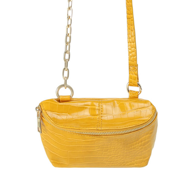Bag croc body yellow