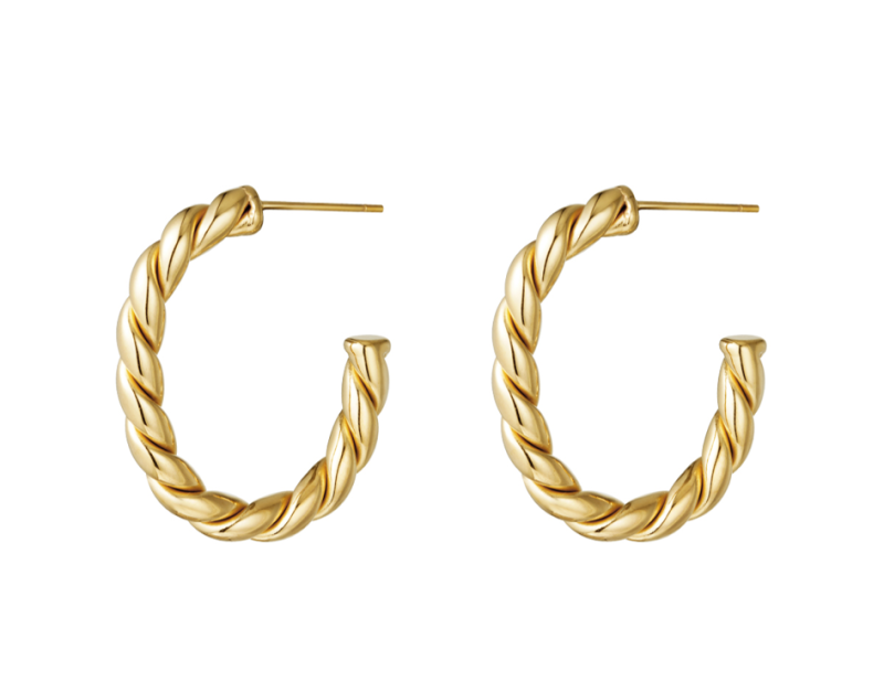 Earrings hoops rope
