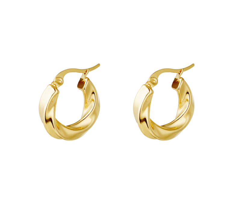 Earrings swirl hoops