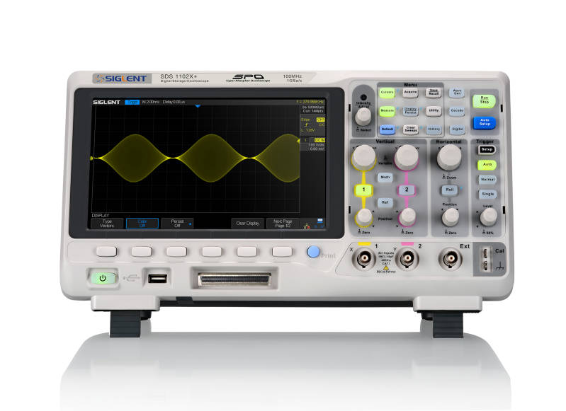 Siglent SDS1102X+ 100MHz Dual channel oscilloscope