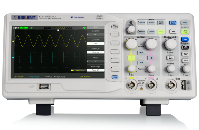 Siglent SDS1102CML+ 100MHz Dual channel oscilloscope