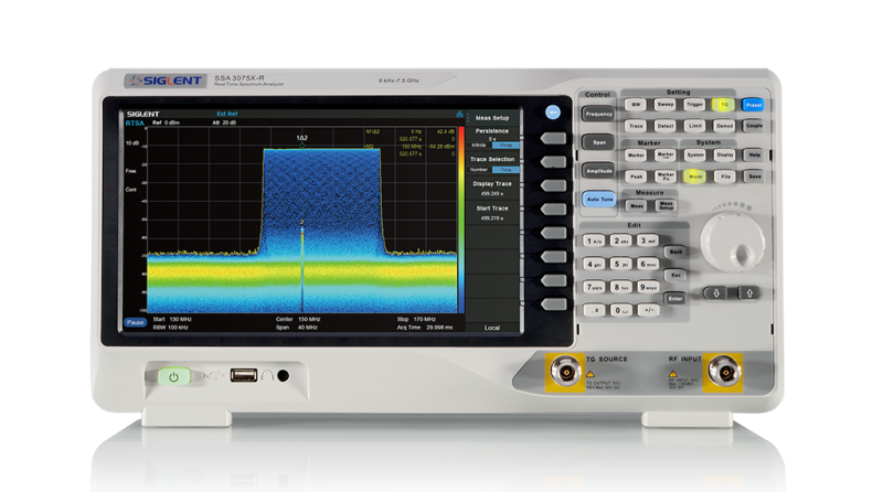 Siglent SSA3075X-R 7.5GHz Real Time spectrum analyzer