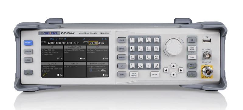Siglent SSG5060X-V 9 kHz~6 GHz (CW MODE) Signal Generator with 60 MHz internal IQ modulation