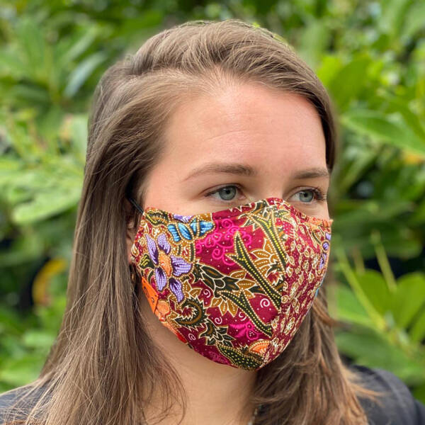 Mouth Mask - Batik Pink