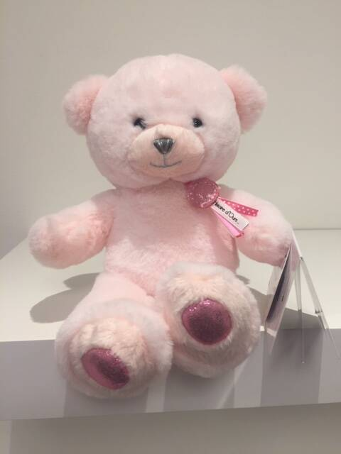 DouDou Charms beertje Roze 24 cm