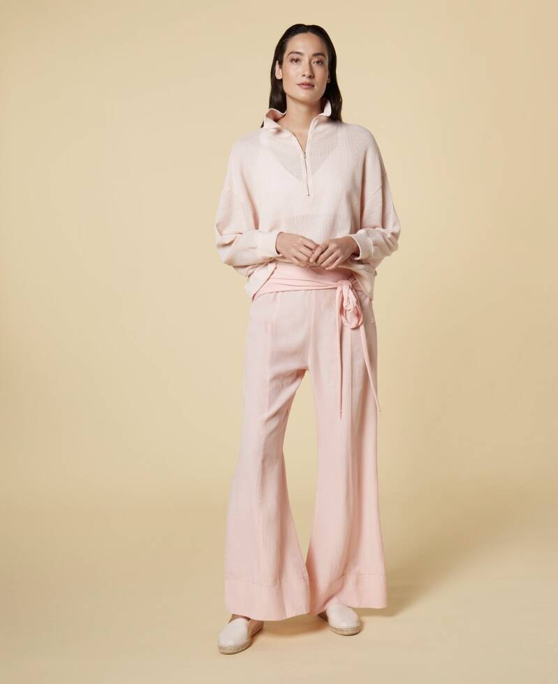 10 DAYS BELTED WIDE PANTS