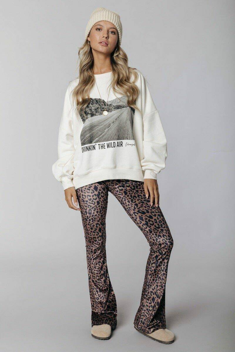 COLOURFUL REBEL Wild Air Dropped Shoulder Sweat