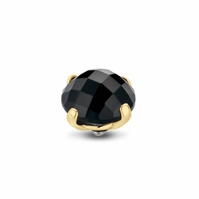 Melano Jewelry Twisted Facet Bold Steentje Jet Black