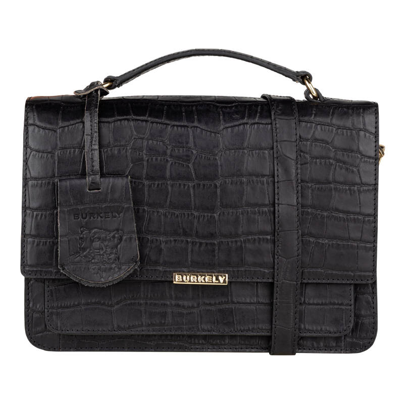 Burkely Winter Specials Citybag Schoudertas Croco Zwart