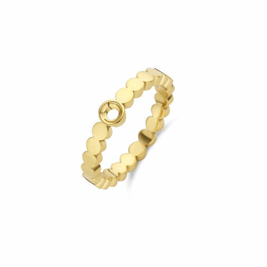 Melano Jewelry Twisted Wave Ring Goud