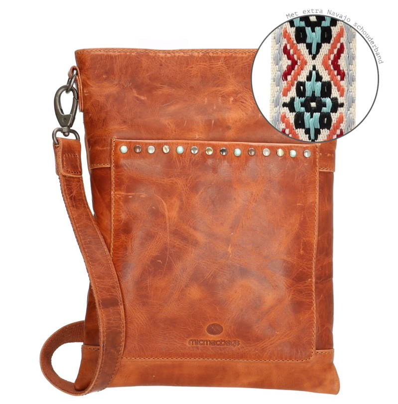 Micmacbags schoudertas New Navajo 16835 Cognac