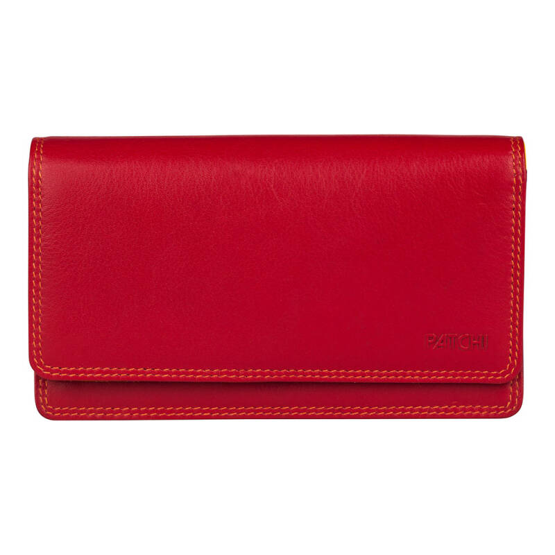 Burkely Patchi Portemonnee Multicolor Rood