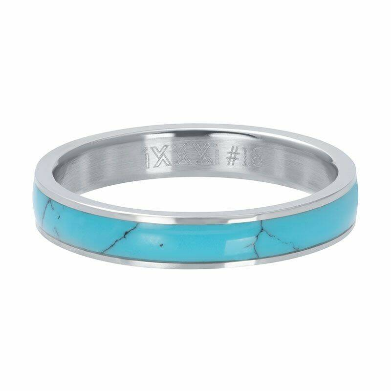 iXXXi Jewelry vulring 4mm Turquoise Stone Zilver