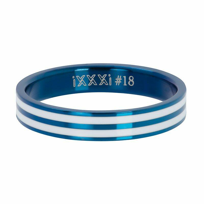 iXXXi Jewelry vulring 4mm Double Line White Blauw